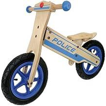 Holz-Kinderlaufrad  Police, natur/ blau, 30,5 cm (12 Zoll)