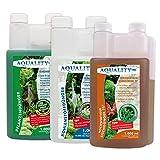 AQUALITY Aquarium Pflanzen-Pflege 3er KOMPLETT-Spar-Set (GRATIS Lieferung in DE - Pflanzendünger - Eisendünger - CO2 Kohlenstoffdünger für einen perfekten Pflanzenwuchs), Set-Größe:Set 1000