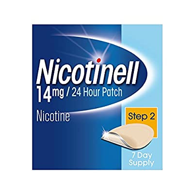 Nicotinell Stop Smoking Aid 24 Hour 7 Days Nicotine Patches, 14 mg, Step 2 by GSK Consumer Healthcare Trading (UK) Ltd