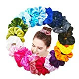20 Pezzi elastici per capelli in velluto Nastri elastico,elastico in Velluto Scrunchies, Accessori per Capelli per Donne o Ragazze ,20 Colori