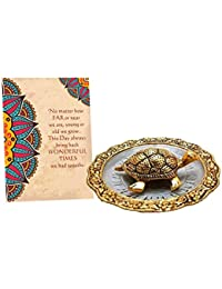 Collectible India Metal Tortoise Vastu Showpiece with Gift Card, Diwali Decoration Items, Diwali Gifts for Corporate Clients Family Friends him her
