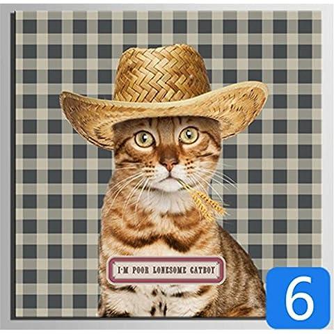 GYN I creativi Fauna pittura Cappello Serie Decorative giclée Canvas Prints senza cornice dipinti su tela di arte della parete per soggiorno da letto decorazioni per la casa , 25x25cm