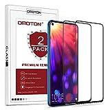 OMOTON [2 Pack Protection D'écran Honor View 20, Film Protection en Verre Trempé [Couverture Complète] [Dureté 9H] pour Honor View 20, Noir