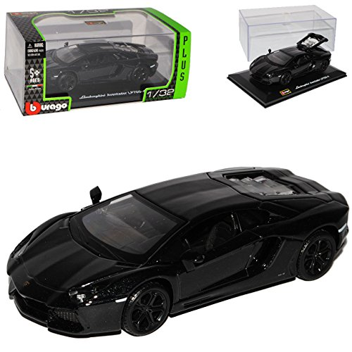 Preisvergleich Produktbild Lamborghini Aventador Lp700-4 Lp 700-4 Schwarz Coupe 1/32 Bburago Burago Modellauto Modell Auto