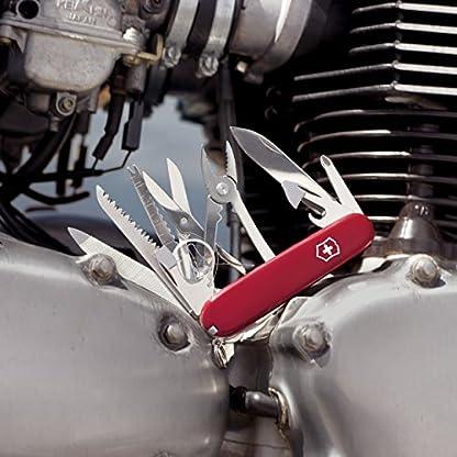 Victorinox Swiss Champ Swiss Army Pocket Knife, Medium, Multi Tool, 33 Functions, Blade, Scissors, Red 3