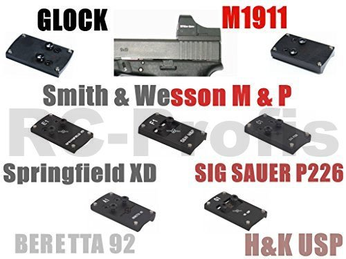 VECTOR OPTICS Adapter Montageplatte für DOCTER Sight C / II / III , VECTOR Sphinx , Meopta Meosight, auf Glock, M1911, Springfield XD, HK USP, Smith & Wesson MP, SIG P226, Beretta 92 (M1911) Matt-weiß 92