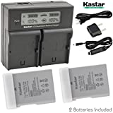 Kastar Dual LCD Battery Chargers With Batteries (Pack Of 2) For Nikon EN-EL14a