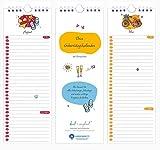 Geburtstagskalender - Immerwährend und Jahresunabhängig - Farbenfroher Wandkalender mit Spiralbindung für alle wichtigen Tage im Jahr aus Recyclingpapier