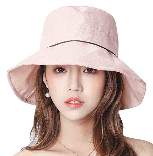 Ladies Bucket Summer Sun Hat Fashion Wide Brim Beach Cap - Foldable/Casual