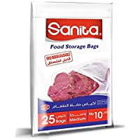 Sanita Food Storage Bags 10, 25 Bags, Oxo Biodegradable, Clear
