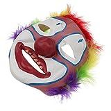 #3: Segolike Full Face Creepy Clown Mask Joker Jester Costume Halloween Fancy Dress for Kids Adult