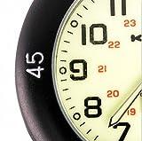 Klox Black Clip On Carabiner Metal Fob Watch Luminous Dial Paramedic Doctor Nurse Unisex Men Women Bild 5