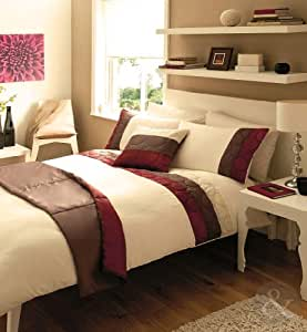 just contempo bettw sche set 5 teilig bestickt modernes design kingsize bettbezug. Black Bedroom Furniture Sets. Home Design Ideas