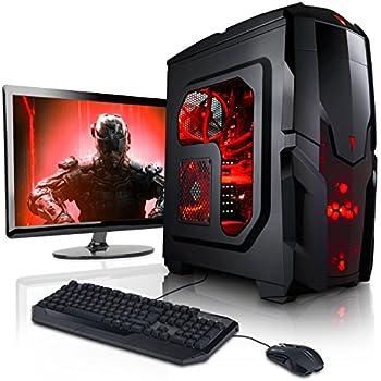 """Megaport Komplett PC Gaming PC Set Intel Core i5 7500 4x 3.40GHz • 24"""" Bildschirm • Tastatur • Maus • Nvidia GeForce GTX1050Ti 4GB • 16GB DDR4 • Windows 10 • 1TB PC Komplettsystem PC Komplett Set Desktop PC"""