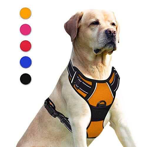 Supet Hundegeschirr Einstellbare Anti Zug Geschirr Reflektierend Atmungsaktiv Hunde Geschirr Leichtes Brustgeschirr aus Nylon Oxford für Große Mittlere und Kleine Hunde