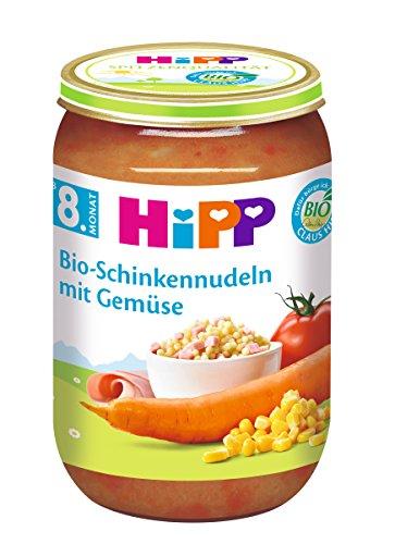 HiPP Bio-Schinkennudeln mit Gemüse, 6er Pack (6 x 220 g)