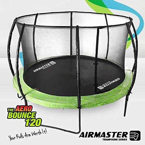 Airmaster® Upgraded Trampoline Set 8ft 10ft 12ft 14ft with Safety Enclosure Pad Spring Net Ladder for Kid Children (12ft Value Set)