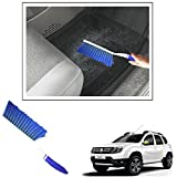 #1: Vheelocityin Shiny Blue Hard And Long Bristles Carpet/ Interior Car Cleaning Brush For Renault Duster New