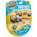 CHTK4 66603 Mighty Beanz Fortnite 4 Pack-Styles May Vary, Multi