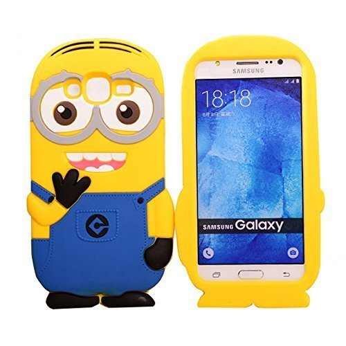 Delight Accessories Minion Soft Silicone and Rubber Back Cover for Samsung Galaxy J2 2016/J210F/J2(6) (Yellow)