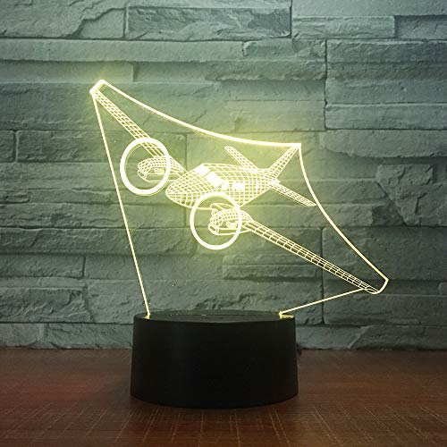Optische Illusionslampe 3d Led Night Light 7 Color Fighter Desk Dekorationslampen Für Baby-ty-zimmer Kinder Geburtstagsgeschenk -