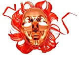 Petits Monelli Masque vénitien Femme Sexy Visage Entier Rouge Masque Carnaval Venise Demi Visage Brillant avec Cheveux