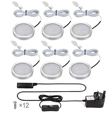 Ustellar LED Under Cabinet Lighting Kit, 1020lm Puck Lights, Total