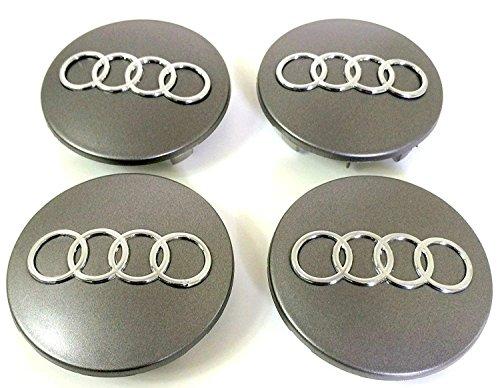 4 COPRIMOZZO per Audi diametro da 68mm Ricambio per Auto Cerchi Borchie Lega A3 A4 A5 A6