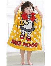 Juleya Baby Toalla de playa con capucha poncho Albornoz para niños de algodón