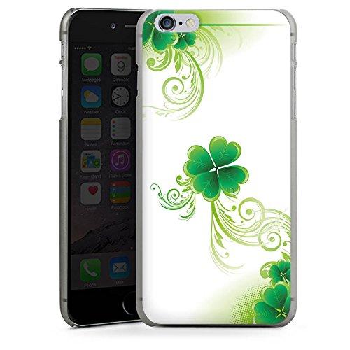 Apple iPhone 4 Housse Étui Silicone Coque Protection Trèfle Fleur Fleur CasDur anthracite clair