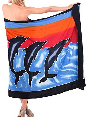 beachwear del bikini coprire abiti costume avvolgono costumi da bagno 2x balneari gonna pareo Royal 1 Blu