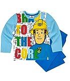 Feuerwehrmann Sam Schlafanzug blau (104)