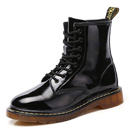 Bottes Brunes Martin Boots Bottes En Cuir De Mode Bottes Noires Et Nude Noir