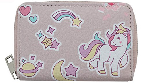 Kindergeldbörse Einhorn rosé Unicorn Geldbörse niedliches Portemonnaie für Mädchen