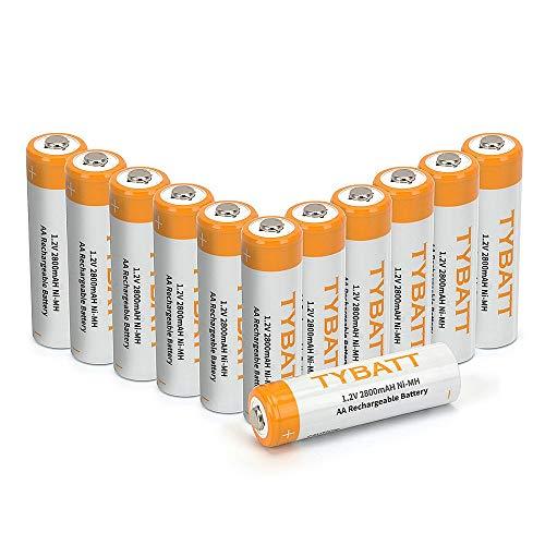 Wiederaufladbare Batterien, TYBATT NiMH Akku AAA Mignon 1100mAh hochkapazitiv Hohe Kapazität ohne Memory-Effekt Profi Digital Kamera-Akkubatterie 12er Pack Digital-kamera-pack