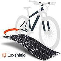 Luxshield Fahrrad Lackschutzfolie für Mountainbike, BMX, Rennrad, Trekkingrad etc. - 21-teiliges Rahmen-Set gegen Steinschlag - Carbon Optik & selbstklebende Qualitätsware aus Deutschland