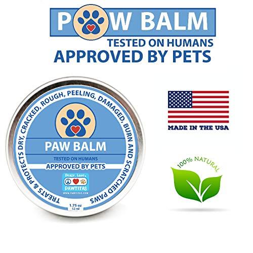 Pawtitas crema zampe cane con cera protettiva per i cuscinetti per le gambe del vostro cane | balsamo polpastrelli cane protezione contro le zampe screpolate, ruvide e sbucciate del vostro cane
