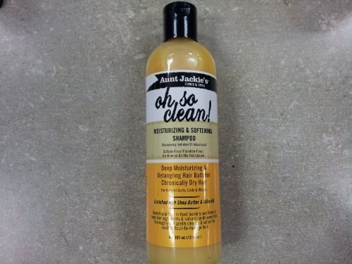 Aunt Jackies Oh So Clean Moisturizing and Softening Shampoo, 12 Fl. Oz by Aunt Jackies by Aunt Jackie's