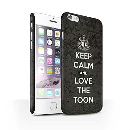 Offiziell Newcastle United FC Hülle / Matte Snap-On Case für Apple iPhone 6S / Pack 7pcs Muster / NUFC Keep Calm Kollektion Liebe Toon