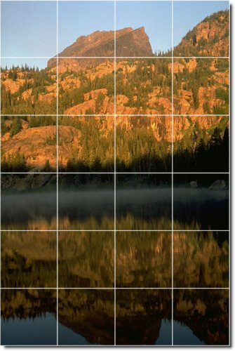 FOTO PAISAJES BACKSPLASH AZULEJO MURAL 13  17 X 64 77 CM CON (24) 4 25 X 4 25 AZULEJOS DE CERAMICA