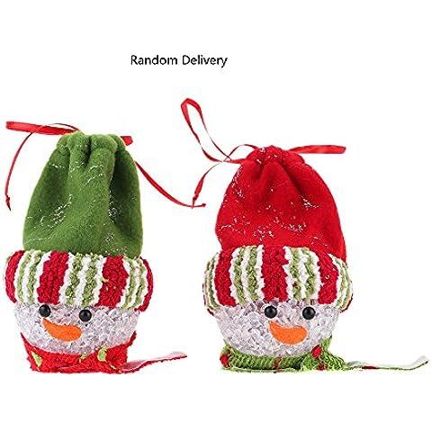 Anself ¡Feliz Navidad! LED EVA Bola Colgante de árbol navideño de muñeco de nieve bolsa de regalos ornamento para la decoración