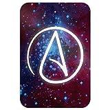 Dozili Plaque en Aluminium avec Symbole athéiste dans l'espace pour la Maison, Le...