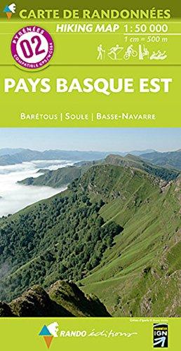 02 pays basque est  1/50.000 (Carte de randonnées) por Rando éditions