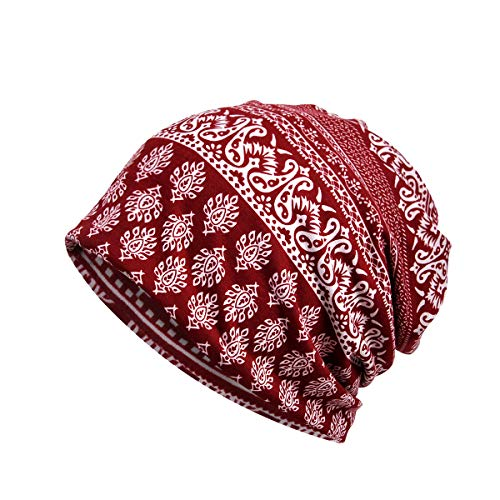 Amorar Damen Baumwolle Elastisch Longbeanie Kopftuch Schal Turban Headwear Chemo Beanie Schal Headwear Kappe Schal für Krebs, Chemo, Haarausfall,EINWEG Verpackung