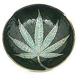 #1: God Of Sale Marijuana Leaf Premium Royal Brass Mixing Bowl/Ashtray- 3.5 Inch (Gold)