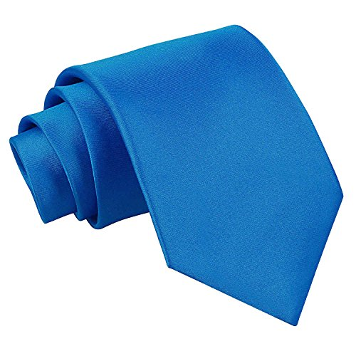 new-dqt-plain-mens-tie-electric-blue