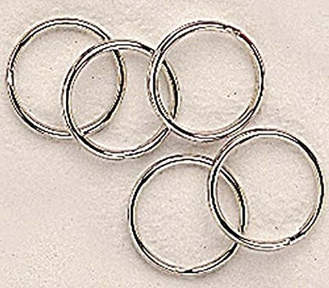 Nouveau standard en caoutchouc poignet bande de Split anneau Clés en laiton plaqué nickel 20mm Pack-100