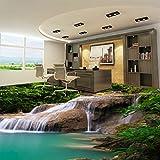 Chlwx 3d tapete 300cmX200cm (118.1inX78.16in) 3D Wandbild Tapeten Natur Wasserfall Pvc Aufkleber Schlafzimmer Wohnzimmer Badezimmer Fußboden Pvc Selbstklebende Tapete 3D
