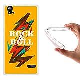 ZTE Blade Vec 4G Hülle, WoowCase Handyhülle Silikon für [ ZTE Blade Vec 4G ] Rock & Roll Abstrakt Handytasche Handy Cover Case Schutzhülle Flexible TPU - Transparent