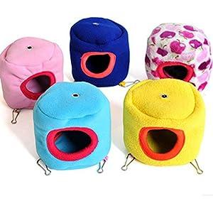 Milopon Hamster Nest Hamster Bett Warmen Bett für Hamster Boden etwa 8-9cm Höhe von ca. 10.5 cm zufällige Farbe